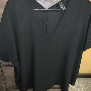 Black v-neck blouse
